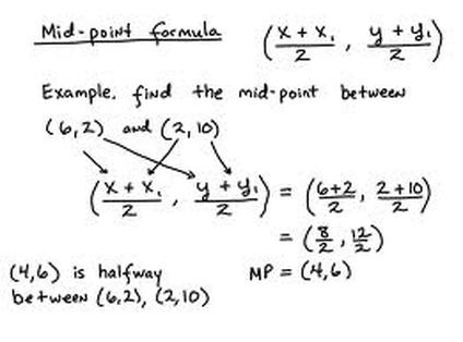 Slope Distance Midpoint Formulas Mrs Saenz Geometry